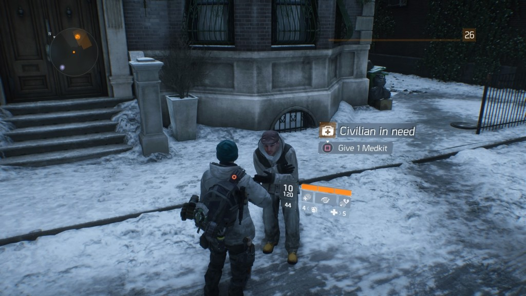 """I can't even pass a """"citizen in need"""" in The Division without giving them a medkit and several energy bars"""