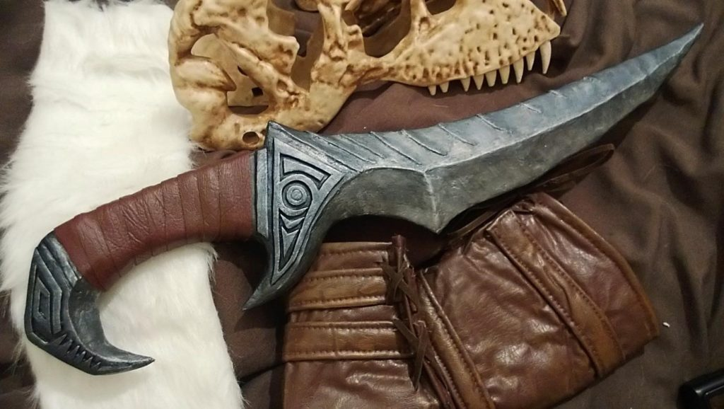 Modelled on the Blade of Woe from The Elder Scrolls: Skyrim